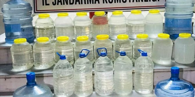 Manisa'da 190 litre sahte içki ele geçirildi