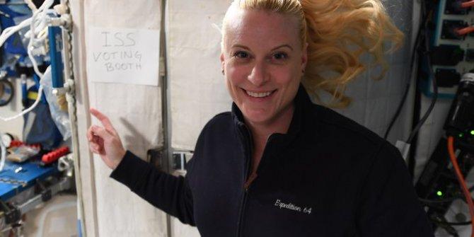 NASA astronotu Kate Rubins uzaydan oy kullandı