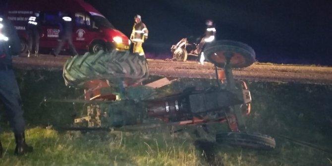 Kaza sonrası devrilen traktörün sürücüsü hayatını kaybetti