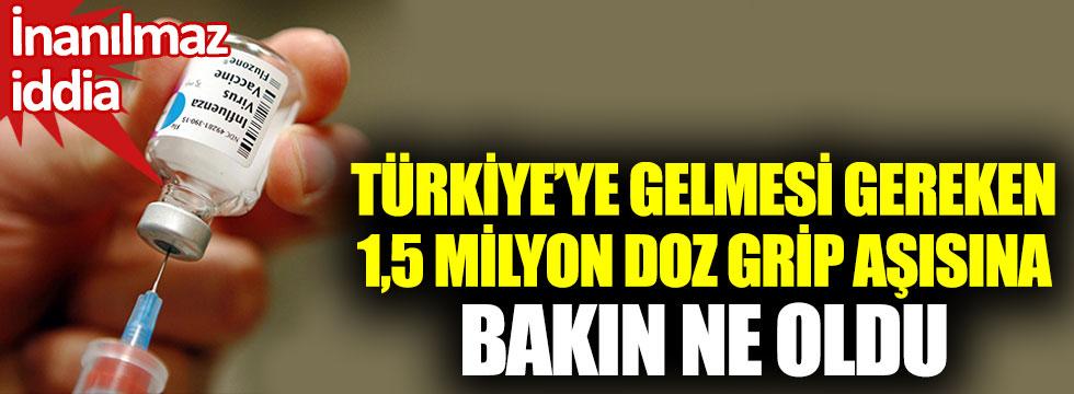 Türkiye'ye gelmesi gereken 1,5 milyon doz grip aşısına bakın ne oldu. İnanılmaz iddia