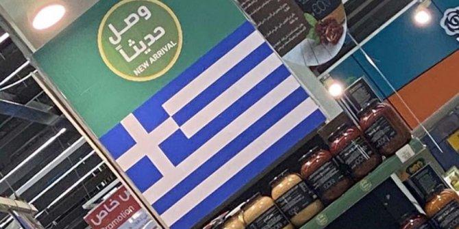 Marketlerdeki Türk ürünlerinin yerini Yunan ürünleri ve bayrağı alıyor.Arapların küstahlığı büyüyor