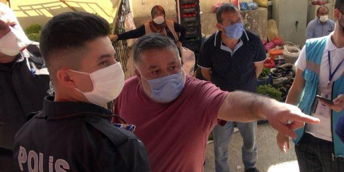 Kırıkkale'de pazarda koronavirüs kurallarına uymayanlara ceza