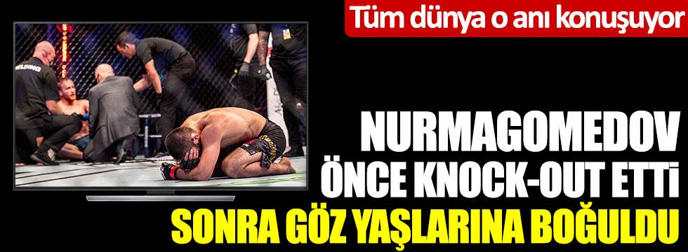 Tüm dünya o anı konuşuyor... Nurmagomedov önce knock-out etti sonra göz yaşlarına boğuldu