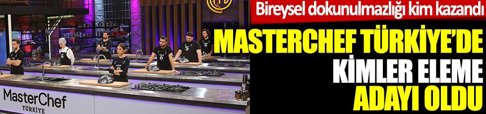 MasterChef Türkiye eleme adayları kimler oldu. 24 Ekim MasterChef Türkiye bireysel dokunulmazlığı kim kazandı?