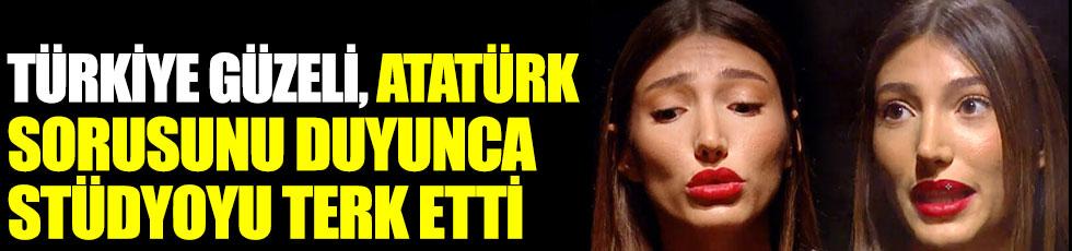 Miss Turkey 2018 Güzeli Şevval Şahin, Atatürk sorusunu duyunca stüdyoyu terk etti
