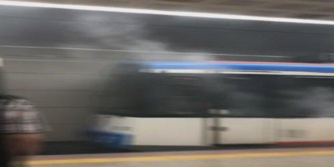 Tramvayda dumanlar tütüyor