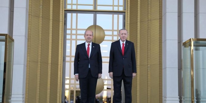 Ersin Tatar Erdoğan'la bir araya geldi