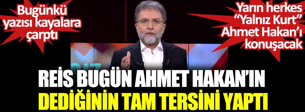 Erdoğan bugün Ahmet Hakan'ın dediğinin tam tersini yaptı. Fransa boykotu için Reis'e ne diyecek?