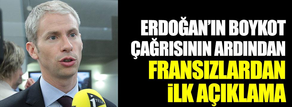 Erdoğan'ın boykot çağrısının ardından Fransa'dan ilk açıklama