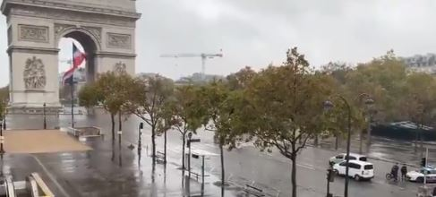 Paris'te bomba alarmı Zafer Takı boşaltılıyor!