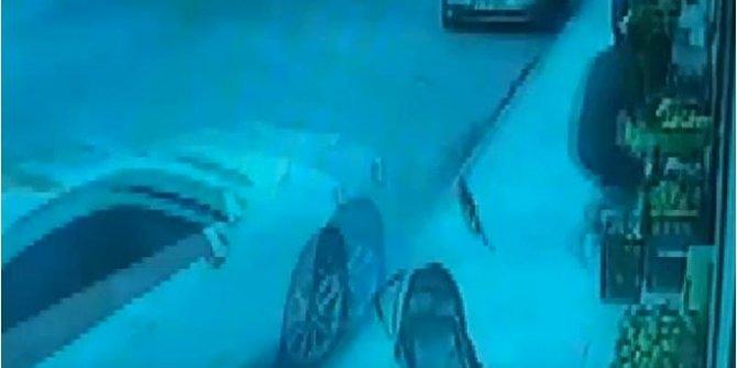 İskenderun'da yangına su taşıyan tankerin freni boşaldı. Kaldırımda yürüyen genç saniyelerle ölümden kurtuldu