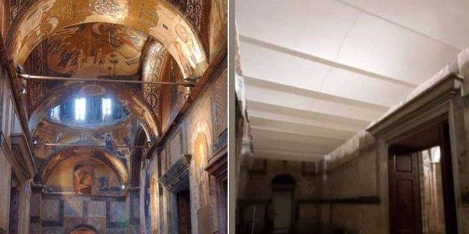 Dünya mirası Kariye Camii böyleydi böyle oldu. Alçıpanla işi bitirmişler