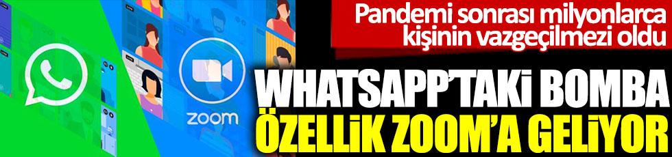 Whatsapp'taki bomba özellik Zoom'a geliyor. Pandemi sonrası milyonlarca kişinin vazgeçilmezi oldu