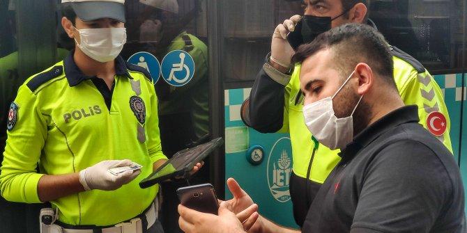 Beyoğlu'nda şok görüntü. Otobüs şoförü karantina dinlemedi
