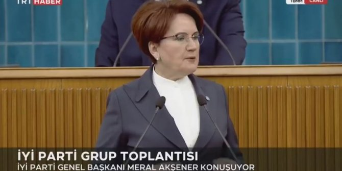 İYİ Parti Genel Başkanı Meral Akşener, birazdan yayını keserler dedi. TRT anında yayını kesti. Akşener yine yanılmadı