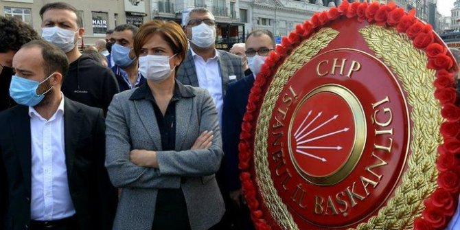 Kaftancıoğlu tören alanını terk etti. Taksim'de çelenk gerginliği