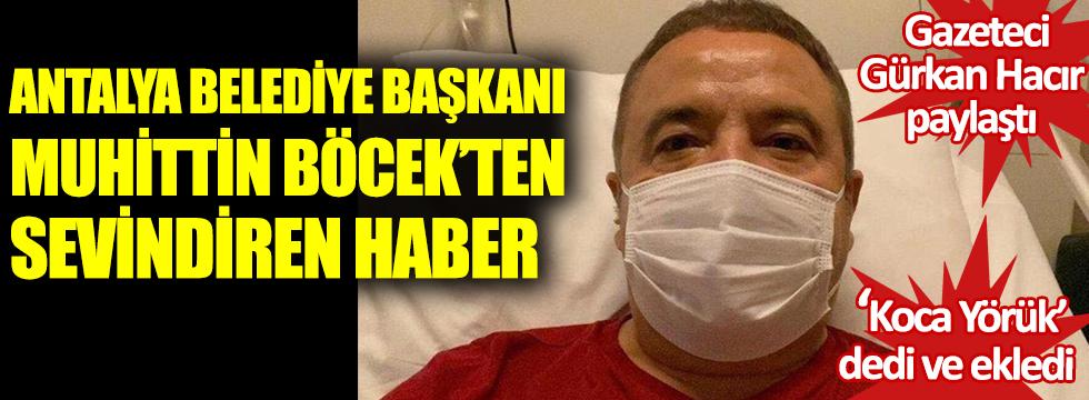 Antalya Belediye Başkanı Muhittin Böcek'ten sevindiren haber. Koca yörük dedi ve ekledi. Gazeteci Gürkan Hacır paylaştı