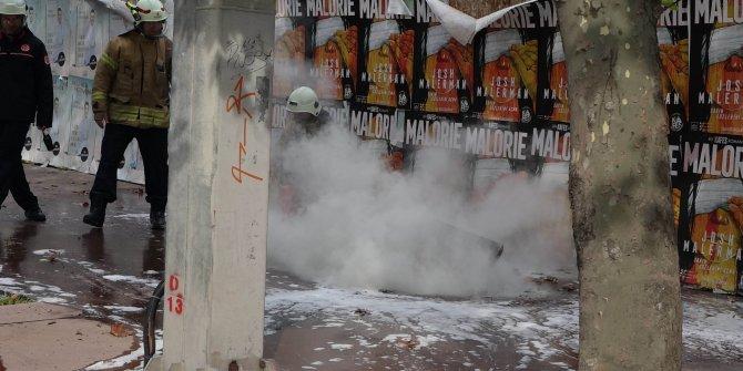 Beşiktaş'ta yer altı kablolarında korkutan patlama