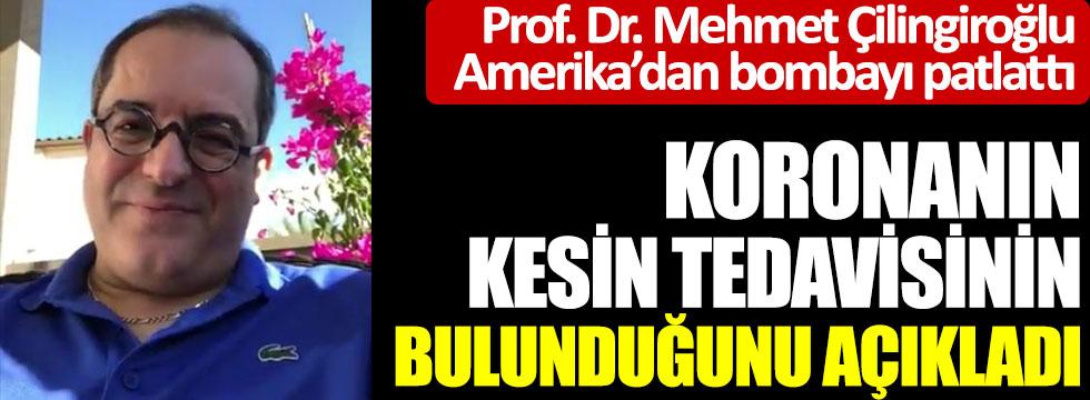 Prof. Dr. Mehmet Çilingiroğlu Amerika'dan bombayı patlattı, Koronanın kesin tedavisinin bulunduğunu açıkladı