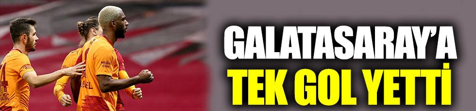 Galatasaray'a Ankaragücü karşısında tek gol yetti