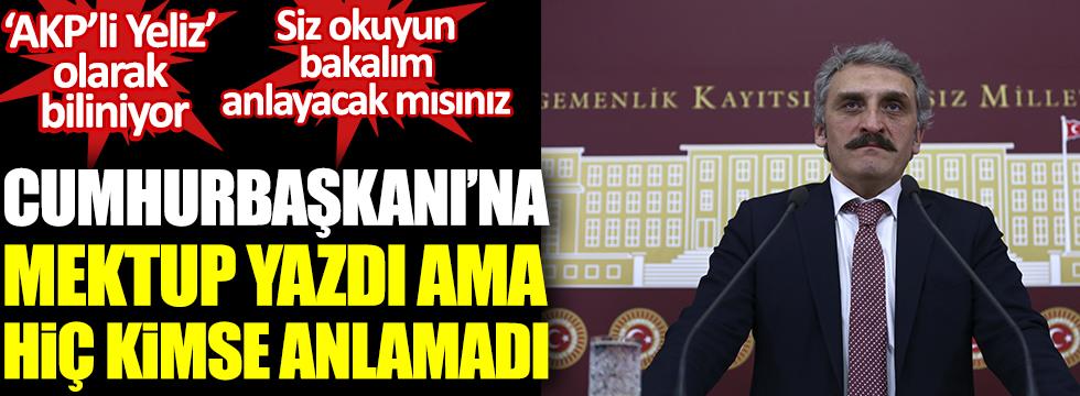 AKP'li Yeliz Cumhurbaşkanı'na mektup yazdı ama kimse anlamadı. Siz okuyun bakalım anlayacak mısınız