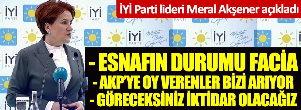 İYİ Parti lideri Akşener açıkladı