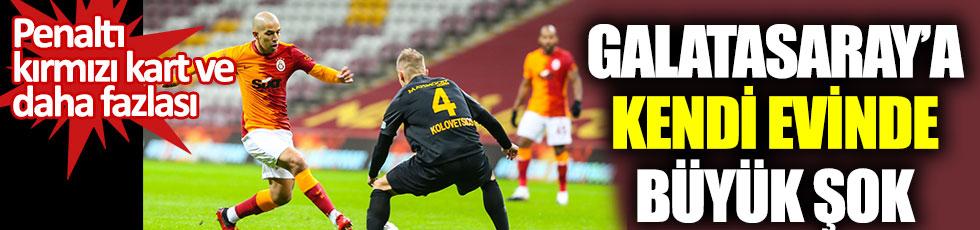 Galatasaray'a Kayserispor'a karşı büyük şok. Penaltı, kırmızı kart ve daha fazlası