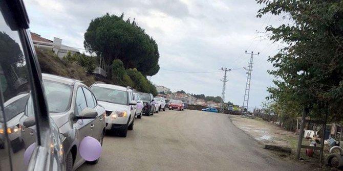 Araçlar morardı. Kadınlar şehir turu attı