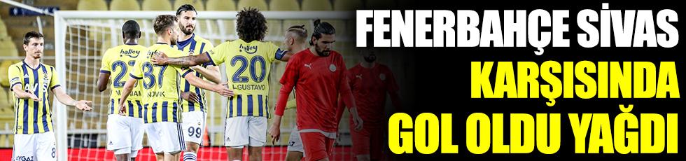 Fenerbahçe, Sivas Belediyespor karşısında gol oldu yağdı