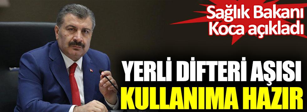 Sağlık Bakanı Fahrettin Koca açıkladı. İlk yerli difteri aşısı kullanıma hazır