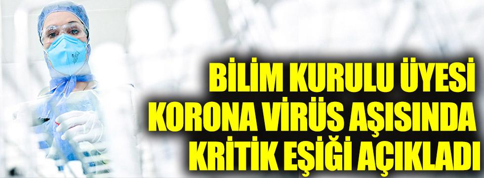 Bilim Kurulu Üyesi Prof.Dr. Mastafa Hasöksüz, korona virüs aşısında kritik eşiği açıkladı