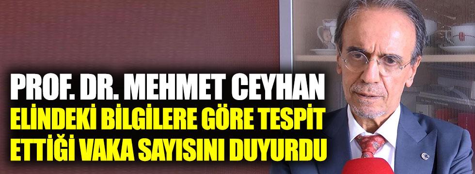 Prof. Dr. Mehmet Ceyhan, elindeki bilgilere göre tespit ettiği vaka sayısını duyurdu. Bu açıklamalardan sonra kimse sokağa çıkmak istemeyecek