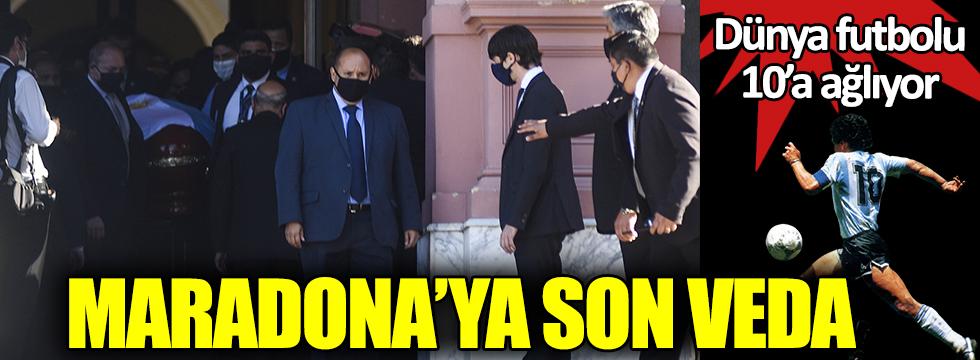 Dünya 10'a ağlıyor. Maradona'ya son veda