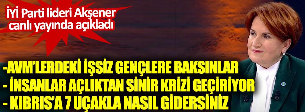 İYİ Parti Genel Başkanı Meral Akşener, Habertürk TV canlı yayınında açıkladı