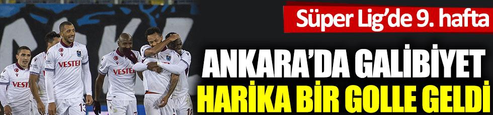 Trabzonspor, Ankaragücü'nü harika bir golle mağlup etti