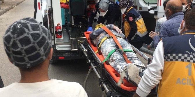 Kalıp ustası, iskeleden düşerek yaralandı