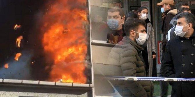 Esenler'de bir binanın çatısı alev alev yandı