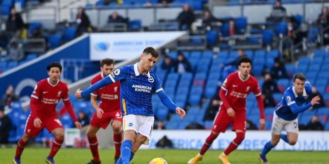 Liverpool, Brighton'a karşı son dakikada üzüldü