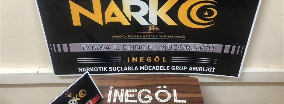 Bursa'da durdurulan araçta uyuşturucu hap ele geçirildi