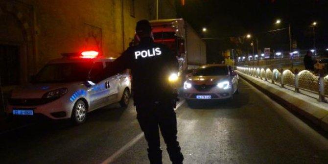 Edirne'de polisten sıkı denetim