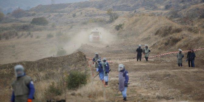 İşgalden kurtarılan Karabağ'da mayın temizliği