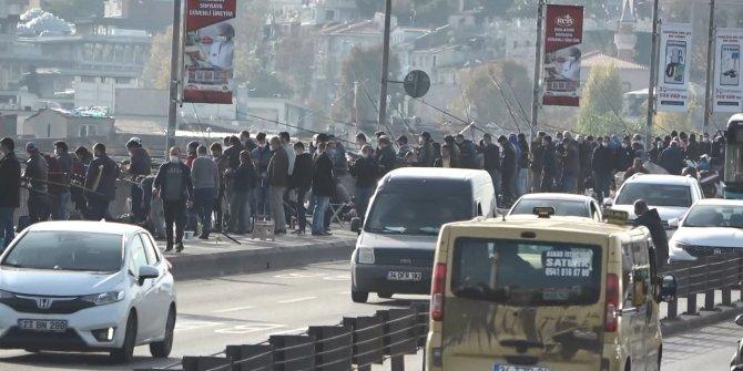 Galata'da korkutan görüntüler, tedbirler hiçe sayıldı