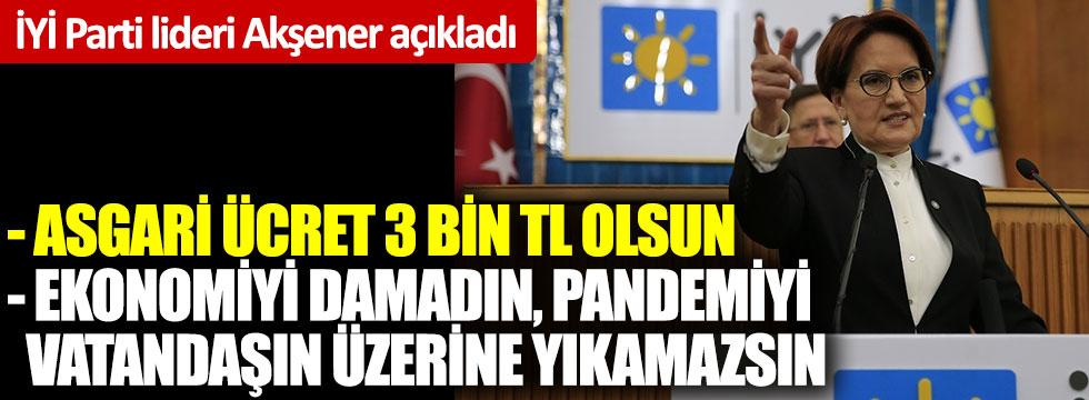 Meral Akşener'den flaş asgari ücret önerisi
