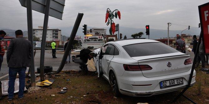 İslahiye'de kaza: 3 kişi yaralandı