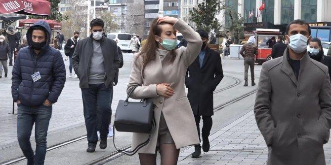 Maske denetimini yanlış anladı, İstiklal Caddesi'nde inanılmaz anlar