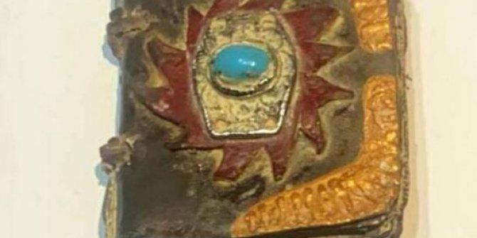 Jandarma operasyon yaptı!  Muğla'da bin yıllık altın işlemeli Tevrat ele geçirildi