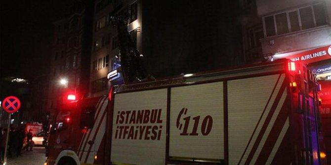 Taksim'de otelde yangın!