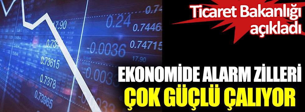 Ekonomide alarm zilleri çok güçlü çalıyor.Ticaret Bakanlığı açıkladı