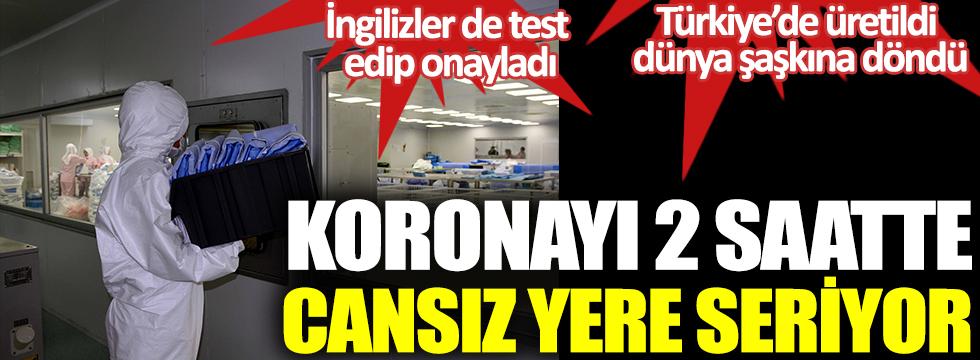 Koronayı 2 saatte yere seriyor. Türkiye'de üretildi dünya şaşkına döndü. İngilizler de test edip onayladı