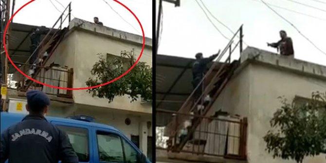 Miras kavgası kardeş katili yaptı. Jandarmayı görünce çatıya kaçtı